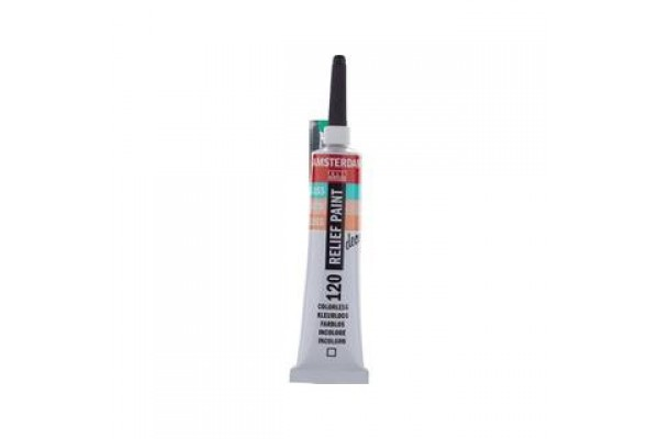 AMSTERDAM RELIEF T.7 120 COLOURLESS 20ML