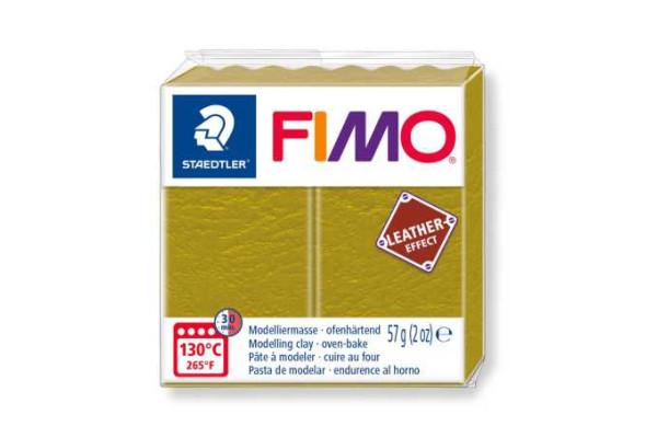 STAEDTLER ΠΗΛΟΣ FIMO LEATHER EFFECT  8010-519 57gr OLIVE