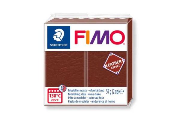 STAEDTLER ΠΗΛΟΣ FIMO LEATHER EFFECT  8010-779 57gr NUT