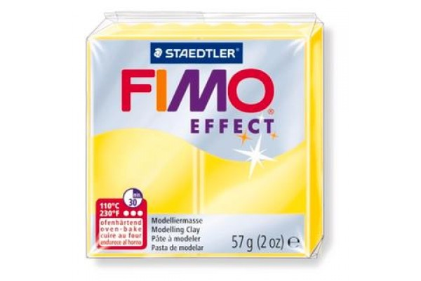 FIMO 8020-104 EFFECT 57gr ΔΙΑΦΑΝΟ ΚΙΤΡΙΝΟ