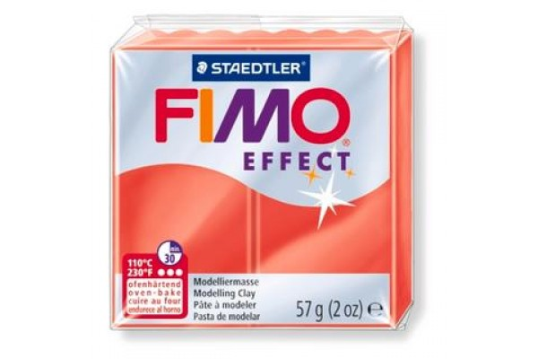 FIMO 8020-204 EFFECT 57gr ΔΙΑΦΑΝΟ ΚΟΚΚΙΝΟ