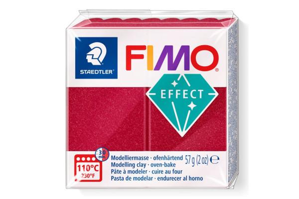 FIMO 8020-28 ΕFFECT 57gr METALLIC ΚΟΚΚΙΝΟ