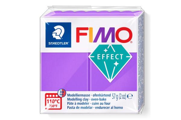 STAEDTLER ΠΗΛΟΣ FIMO 8020-604 EFFECT 57gr ΔΙΑΦΑΝΟ ΜΩΒ