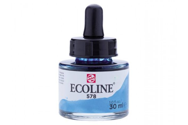 ECOLINE ROYAL TALENS 30ML SKY BLUE CYAN